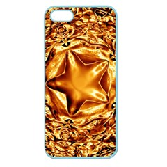 Elegant Gold Copper Shiny Elegant Christmas Star Apple Seamless Iphone 5 Case (color) by yoursparklingshop