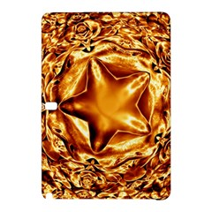 Elegant Gold Copper Shiny Elegant Christmas Star Samsung Galaxy Tab Pro 10 1 Hardshell Case by yoursparklingshop