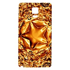 Elegant Gold Copper Shiny Elegant Christmas Star Galaxy Note 4 Back Case by yoursparklingshop