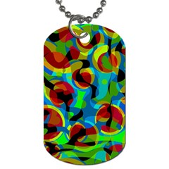 Colorful Smoothie  Dog Tag (two Sides) by Valentinaart