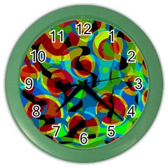 Colorful Smoothie  Color Wall Clocks by Valentinaart