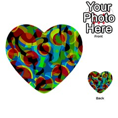 Colorful Smoothie  Multi Purpose Cards (heart)