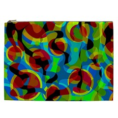 Colorful Smoothie  Cosmetic Bag (xxl)  by Valentinaart