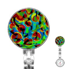 Colorful Smoothie  Stainless Steel Nurses Watch
