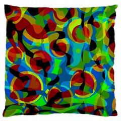 Colorful Smoothie  Large Flano Cushion Case (one Side) by Valentinaart