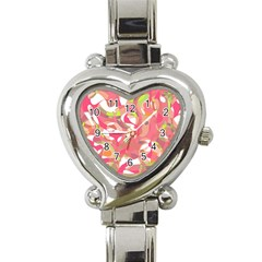 Pink Smoothie  Heart Italian Charm Watch by Valentinaart