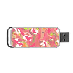 Pink Smoothie  Portable Usb Flash (two Sides) by Valentinaart