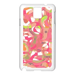 Pink Smoothie  Samsung Galaxy Note 3 N9005 Case (white) by Valentinaart