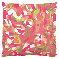 Pink Smoothie  Large Flano Cushion Case (one Side) by Valentinaart