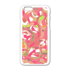 Pink Smoothie  Apple Iphone 6/6s White Enamel Case by Valentinaart