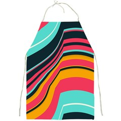 Bent Waves                                                                                                        			full Print Apron by LalyLauraFLM