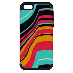 Bent Waves                                                                                                       			apple Iphone 5 Hardshell Case (pc+silicone) by LalyLauraFLM