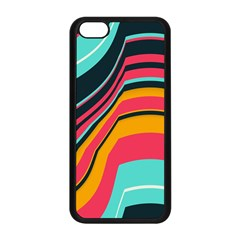 Bent Waves                                                                                                       			apple Iphone 5c Seamless Case (black) by LalyLauraFLM