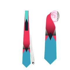 Triangles Stripes And Other Shapes                                                                                                         Necktie by LalyLauraFLM