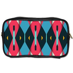 Triangles Stripes And Other Shapes                                                                                                         Toiletries Bag (two Sides)