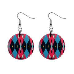 Triangles Stripes And Other Shapes                                                                                                         			1  Button Earrings by LalyLauraFLM
