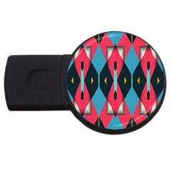 Triangles Stripes And Other Shapes                                                                                                         			usb Flash Drive Round (4 Gb) by LalyLauraFLM