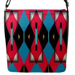 Triangles Stripes And Other Shapes                                                                                                         			flap Closure Messenger Bag (s) by LalyLauraFLM