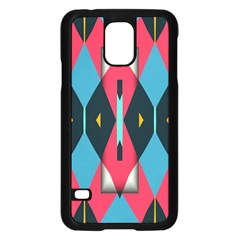 Triangles Stripes And Other Shapes                                                                                                        			samsung Galaxy S5 Case (black) by LalyLauraFLM