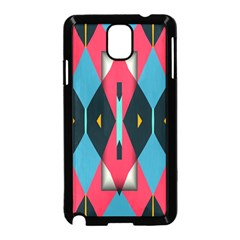 Triangles Stripes And Other Shapes                                                                                                        			samsung Galaxy Note 3 Neo Hardshell Case (black) by LalyLauraFLM