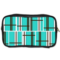 Black And White Stripes                                                                                                          			toiletries Bag (one Side) by LalyLauraFLM