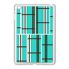 Black And White Stripes                                                                                                         			apple Ipad Mini Case (white) by LalyLauraFLM