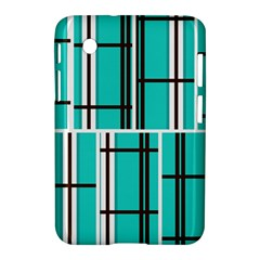 Black And White Stripes                                                                                                         			samsung Galaxy Tab 2 (7 ) P3100 Hardshell Case by LalyLauraFLM