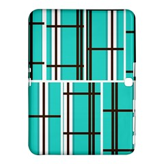 Black And White Stripes                                                                                                         			samsung Galaxy Tab 4 (10 1 ) Hardshell Case by LalyLauraFLM