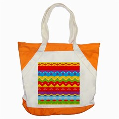 Colorful Waves                                                                                                           			accent Tote Bag by LalyLauraFLM