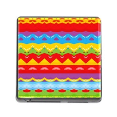 Colorful Waves                                                                                                           			memory Card Reader (square) by LalyLauraFLM