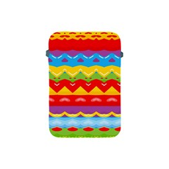Colorful Waves                                                                                                          			apple Ipad Mini Protective Soft Case by LalyLauraFLM