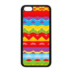 Colorful Waves                                                                                                          			apple Iphone 5c Seamless Case (black) by LalyLauraFLM