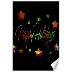 Happy Holidays Canvas 24  X 36  by Valentinaart