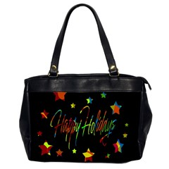 Happy Holidays Office Handbags (2 Sides)  by Valentinaart