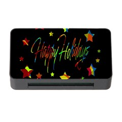 Happy Holidays Memory Card Reader With Cf by Valentinaart