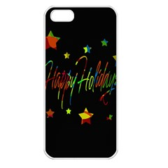 Happy Holidays Apple Iphone 5 Seamless Case (white) by Valentinaart