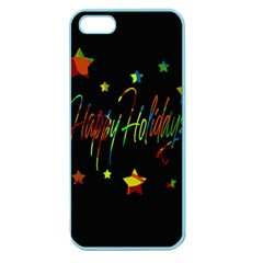 Happy Holidays Apple Seamless Iphone 5 Case (color) by Valentinaart