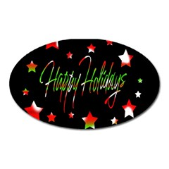Happy Holidays 2  Oval Magnet by Valentinaart