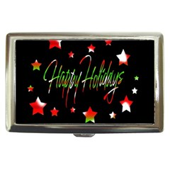 Happy Holidays 2  Cigarette Money Cases by Valentinaart