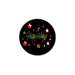 Happy Holidays 2  Golf Ball Marker (4 Pack) by Valentinaart