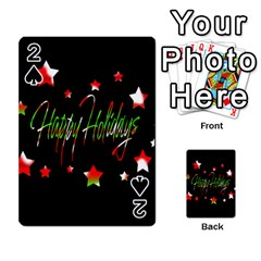 Happy Holidays 2  Playing Cards 54 Designs  by Valentinaart