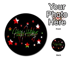 Happy Holidays 2  Multi Purpose Cards (round)  by Valentinaart