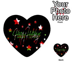 Happy Holidays 2  Multi Purpose Cards (heart)  by Valentinaart