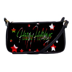 Happy Holidays 2  Shoulder Clutch Bags by Valentinaart