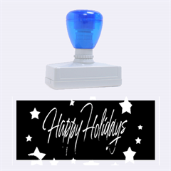Happy Holidays 2  Rubber Stamps (large) by Valentinaart