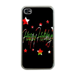 Happy Holidays 2  Apple Iphone 4 Case (clear) by Valentinaart