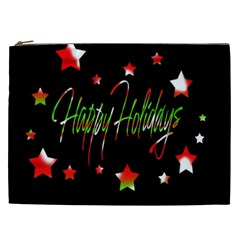 Happy Holidays 2  Cosmetic Bag (xxl)  by Valentinaart