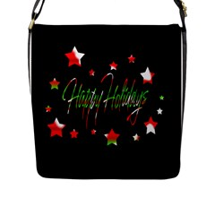 Happy Holidays 2  Flap Messenger Bag (l)  by Valentinaart