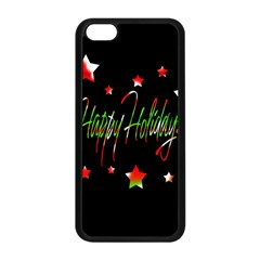 Happy Holidays 2  Apple Iphone 5c Seamless Case (black) by Valentinaart