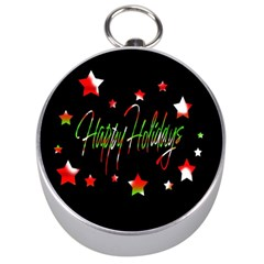 Happy Holidays 2  Silver Compasses